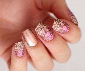 fancy, gold, and nail image