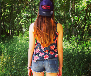 floral, girl, and vans image