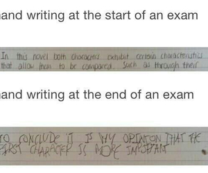 exam, funny, and handwriting image