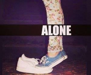 alone, vans, and shoes image