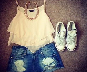 converse, necklace, and short image