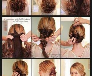 hairstyle, summer, and hairdesign image