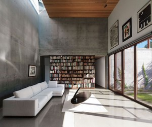 interior decoration, unique brown table, and exterior design image