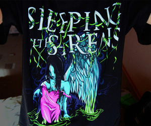 sleeping with sirens, shirt, and sws image