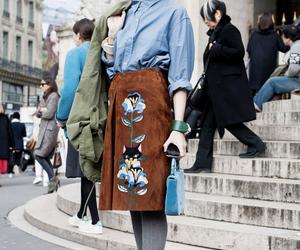 blue shirt, paris, and paris fashion week image