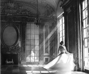 dress, black and white, and photography image