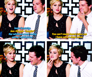 funny, interview, and Jennifer Lawrence image