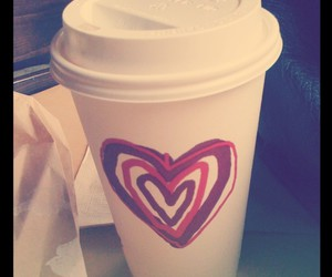 coffee, heart, and photography image