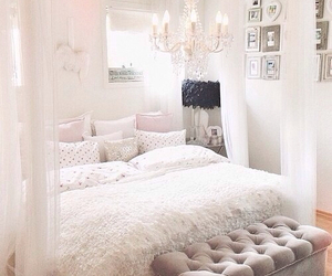 bed, inlove, and room image