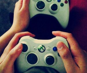 controller, couple, and xbox image