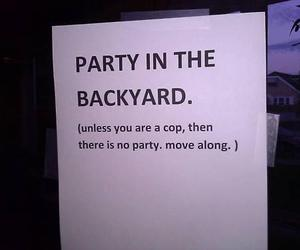 party, cops, and funny image