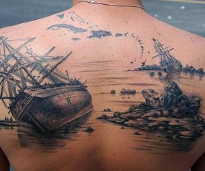 tattoo, ship, and back image