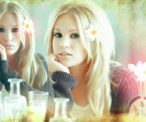 carrie underwood, blonde, and flowers image