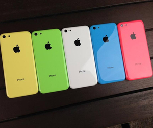 apple, iphone, and rainbow colors image