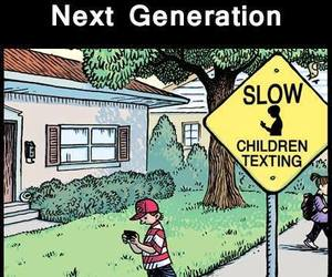 texting, children, and generation image
