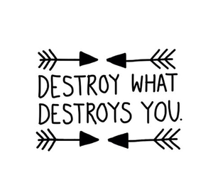 destroy, quote, and overlay image