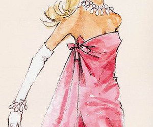 pink, barbie, and drawing image
