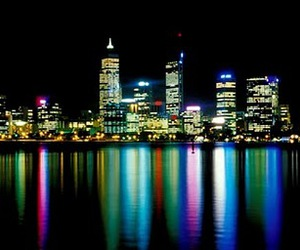 australia, city, and lights image