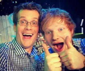 ed sheeran, john green, and tfios image