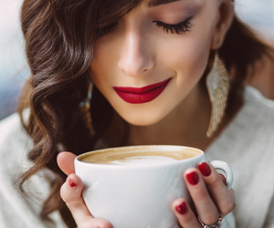 coffee, girl, and photo image