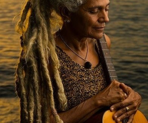 dreads, guitar, and dreadlocks image