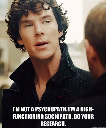 sherlock, sociopath, and phsycopath image