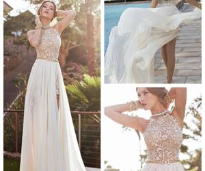 a-line, wedding, and dress image