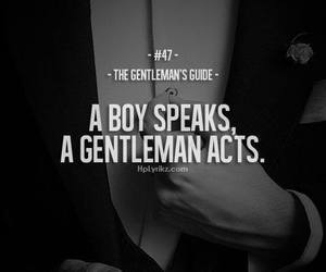 gentleman, boy, and quotes image