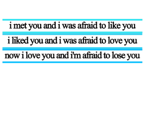 love, afraid, and Relationship image