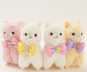 alpaca, kawaii, and pastel image