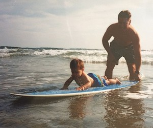 surf, dad, and cute image