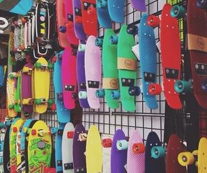 skateboard, skate, and penny image