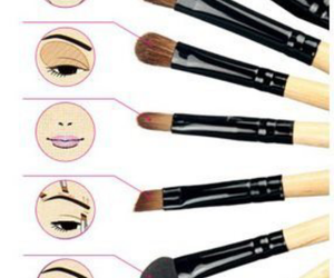 Brushes, eyes, and makeup image