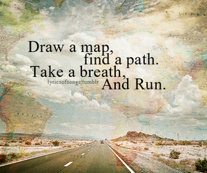 map, run, and quotes image