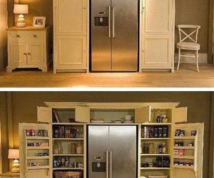 kitchen, food, and fridge image