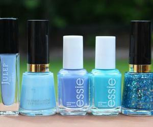 blue, nails, and nail polish image