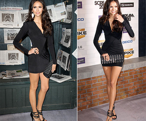 Nina Dobrev, black dress, and dress image