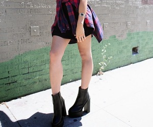 black boots, fashion, and fashion blogger image