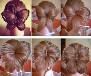 butterfly, hair, and hairstyle image