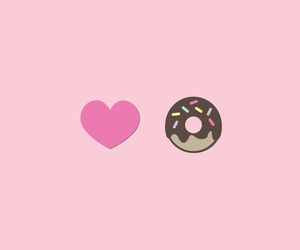 donuts, girly, and heart image