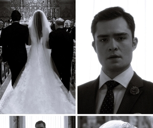 chuck bass, gossip girl, and blair waldorf image