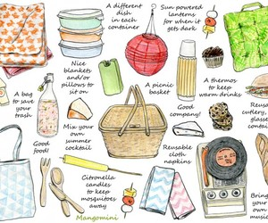 summer and picnic image