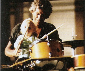 child, drums, and Keith Richards image