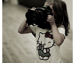 girl, camera, and hello kitty image