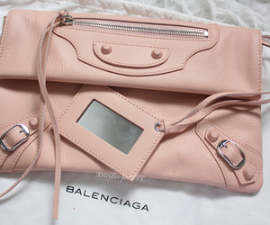 Balenciaga, clutch, and fringes image