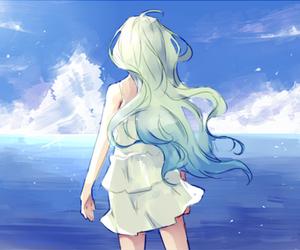 anime girl, blue, and kawaii image