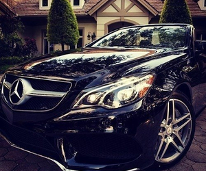 black and mercedes image
