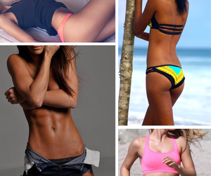 beach, work out, and Just Do It image
