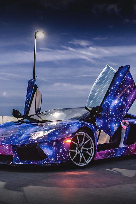 Lamborghini Aventador Galaxy very graceful on We Heart It