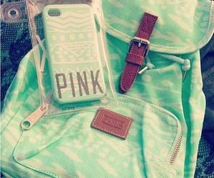 pink, green, and bag image